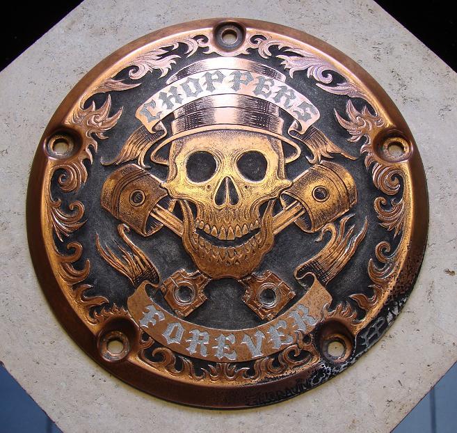 Paul Holbrecht 187 Choppers Forever Engraved Harley
