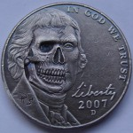 'Better go see the Doctor' Hobo nickel USA Jefferson-Monticello 5 cents 1.1.b