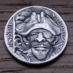 'The Captain' Hobo nickel carving 1
