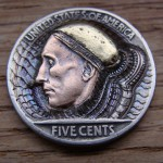 'Wizard from Outer Space' Hobo nickel carving 1