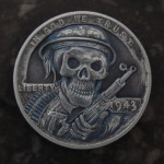 'Ghost Soldier' 1943 USA (steel penny- Lincoln Wheat Cent) 1a