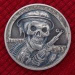 'Ghost Soldier' 1943 USA (steel penny- Lincoln Wheat Cent) 1c