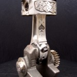 'Lucky 13' relief engraved piston & connecting rod (final assembly) 2