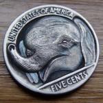 'Baby Elephant' Hobo nickel 2a