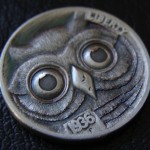 'Owl' Hobo nickel carving 2a