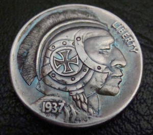 'The Brave Knight' Hobo nickel 1a.a